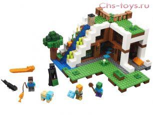 Конструктор LELE Minecraft База на водопаде 33052 (Аналог LEGO Minecraft 21134) 744 дет.