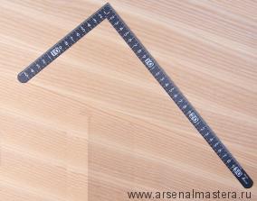 Угольник столярный плоский Shinwa 300 х 150 мм черный отсчёт нижней шкалы - от наружнего угла с шагом 5 мм 12435 М00013227