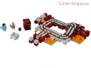 Конструктор LELE Minecraft Подземная железная дорога 33054 (Аналог LEGO Minecraft 21130) 402 дет.