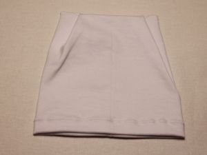 Шапка трикотажная, размер 44-46 (20*19 см), цвет белый (1 уп = 6 шт), Арт. ПВ0049