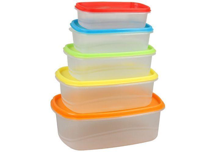 Набор овальных пищевых контейнеров