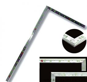 Угольник столярный плоский Shinwa фигурный профиль 500х250мм, отсчет от внешнего угла М00013243