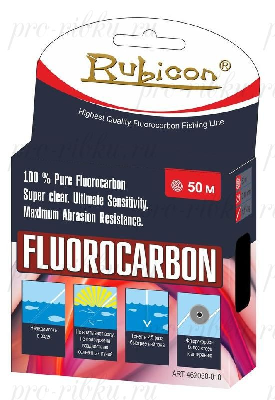 Леска RUBICON Fluorocarbon 50m d=0,30mm