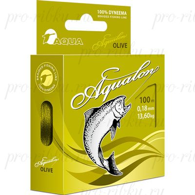 Плетеный шнур AQUA Aqualon 100m (olive) d=0,12mm