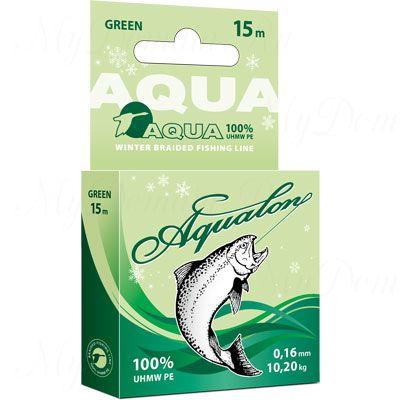 Плетеный шнур AQUA Aqualon Dark-Green 15m d=0,08mm