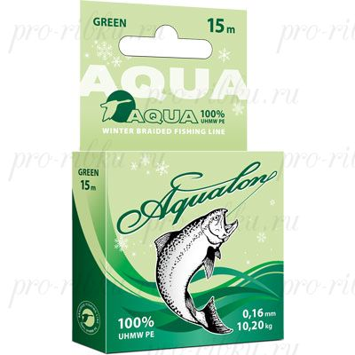 Плетеный шнур AQUA Aqualon Dark-Green 15m d=0,10mm