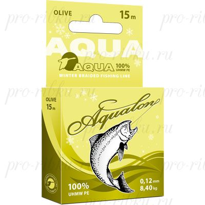 Плетеный шнур AQUA Aqualon Olive 15m d=0,14mm