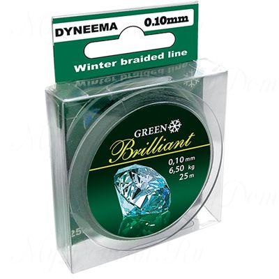 Плетеный шнур AQUA Green Brilliant 25m d=0,14mm