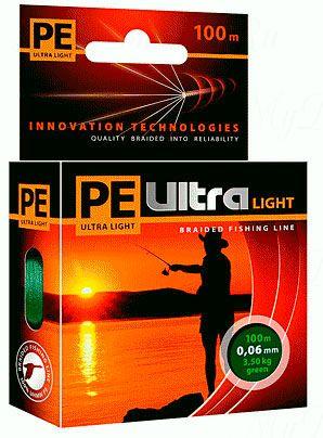 Плетеный шнур AQUA PE ULTRA Light  135m dark green, 0.14mm