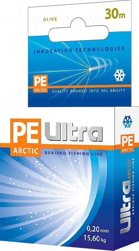 Плетеный шнур AQUA PE ULTRA Arctic 30m 0.16mm, olive
