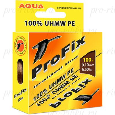 Плетеный шнур AQUA PROFIX 100m brown, d=0,30mm