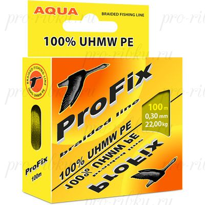 Плетеный шнур AQUA PROFIX 100m olive, d=0,12mm