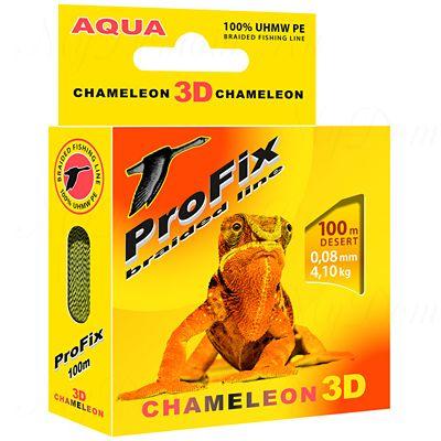 Плетеный шнур AQUA PROFIX Chameleon 3D 100m desert, 0.08mm