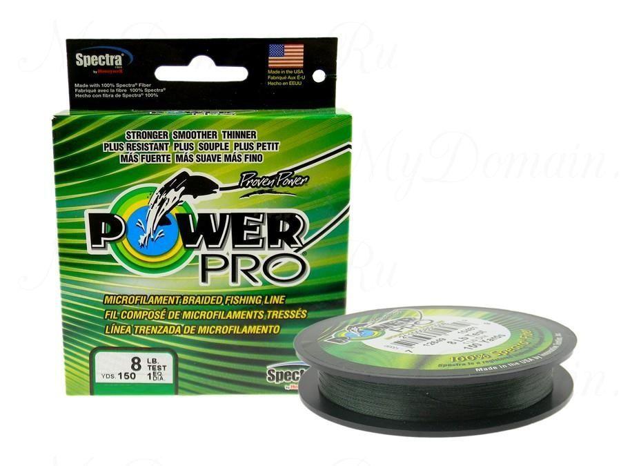 Плетеный шнур Power Pro 135m Moss Green d=0,32mm (24,0kg)