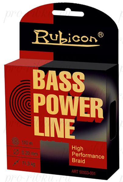 Плетеный шнур RUBICON Bass Power Line 110m yellow, d=0,10mm