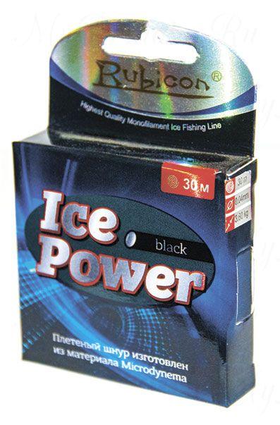 Плетеный шнур RUBICON Ice Power 30m white, d=0,06mm