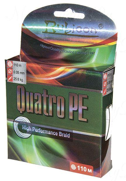 Плетеный шнур RUBICON Quatro PE 110m d=0,10mm (multicolor)