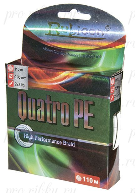 Плетеный шнур RUBICON Quatro PE 110m d=0,25mm (multicolor)