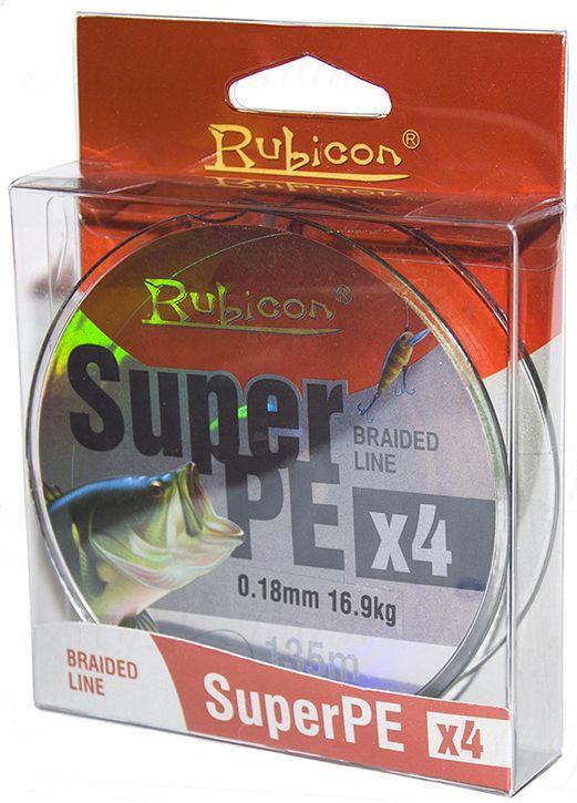 Леска плетеная RUBICON Super PE 4x 135m dark green, d=0,35mm