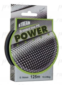 Плетеный шнур STREAM Power Green 125m d=0,30 mm