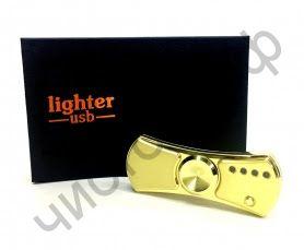 USB эко зажигалка для сигарет LT-03 +спиннер LED подсветка не боиться ветра