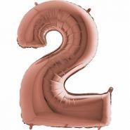 "Фигура ""2"" (102 см) розовое золото"