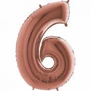 """Фигура """"6"""" (102 см) розовое золото,  Grabo"""