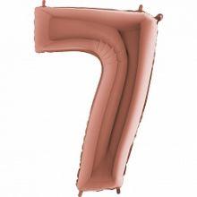 """Фигура """"7"""" (102 см) розовое золото,  Grabo"""