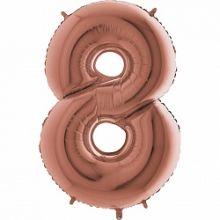 """Фигура """"8"""" (102 см) розовое золото, Grabo"""