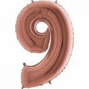"Фигура ""9"" (102 см) розовое золото"