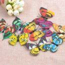 бабочки пластиковые 4см