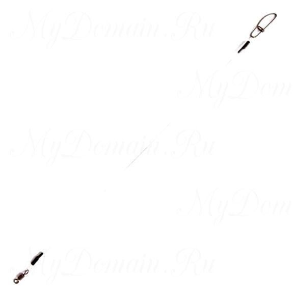 Поводок флюорокарбоновый RUBICON 10кг, d=0,4, 25см (2шт)