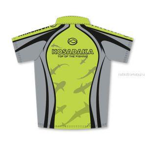 Футболка Kosadaka Серо-зеленая, Sunblock, короткий рукав, TSSB-011S