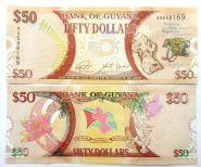 Гайана 50 долларов 2016 ПАМЯТНАЯ / ЮБИЛЕЙНАЯ