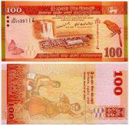Шри-Ланка 100 рупий 2010 UNC ПРЕСС