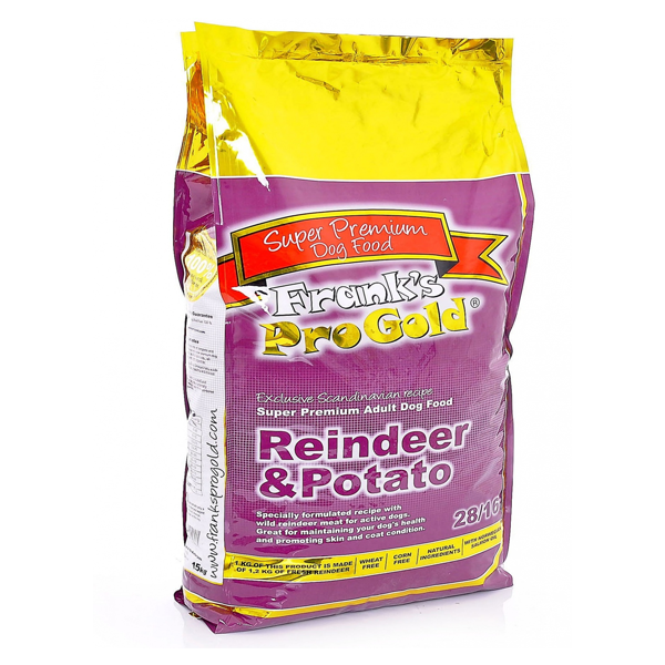 Корм сухой Franks ProGold для собак с чувствительным пищеварением оленина и картофель 15кг