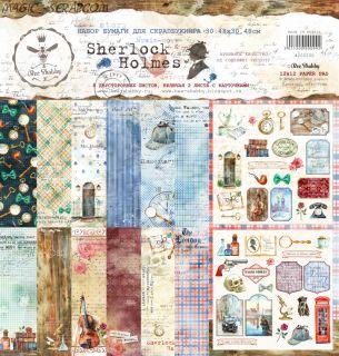 "Набор бумаги ""Sherlock Holmes"" от Bee Shabby"