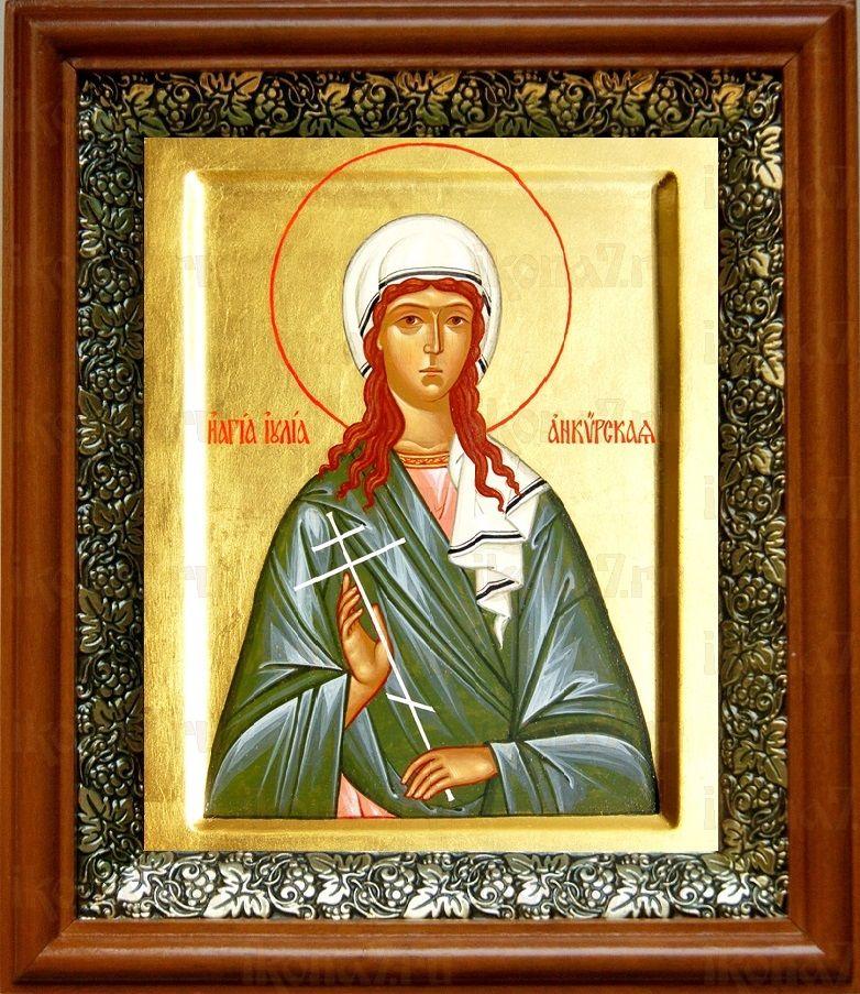 Иулия Анкирская (19х22), светлый киот