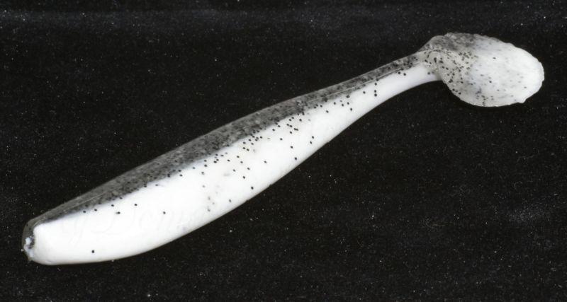 """Приманка съедобная ALLVEGA """"Tail Shaker"""" 10см 6,5г (7шт.) цвет milk w/pepper back"""