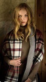 """теплый широкий двусторонний  шарф (двойное полотно) клан Макдуф и """"ломаная клетка"""" Dress MacDuff / Houndstooth ,плотность 7"""