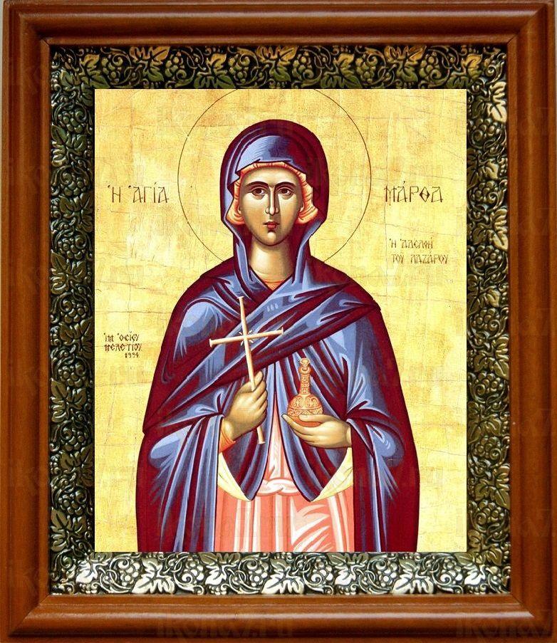 Марфа Вифанская (19х22), светлый киот