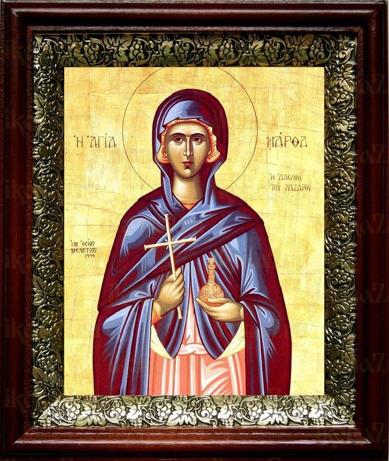 Марфа Вифанская (19х22), темный киот
