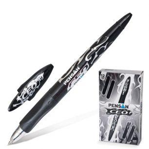 """Ручка гелевая PENSAN """"CEO"""", корпус цветной, толщина письма 0,7 мм, черная, 2300"""