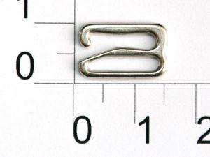 `Крючок, цвет- никель, металл, ширина 12 мм