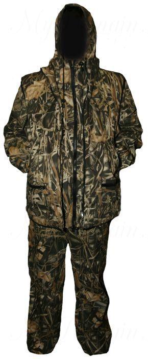 Костюм Тайга (3в1, куртка, брюки, жилет разгрузочный) раз. 56-58, кмф/камыш