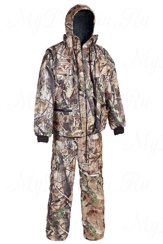 """Костюм Тайга алова-""""мембрана"""" (3в1, куртка, брюки, жилет разгрузочный) раз. 60-62, кмф/свет.лес"""