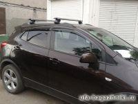 Багажник на интегрированные рейлинги Opel Mokka, Евродеталь, крыловидные дуги