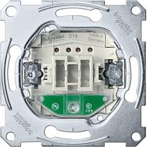 Merten Мех QuickFlex Выключатель 1-клавишный с/п, 10А