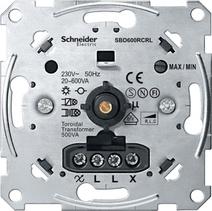 Merten Мех Светорегулятор поворотный 20-600Вт универсальный