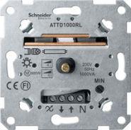 Merten Мех Светорегулятор поворотный 60-1000ВА для л/н и обм тр-ров